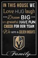 """Vegas Golden Knights 17"""" x 26"""" In This House Sign"""