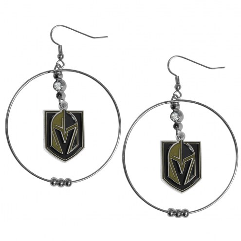 "Vegas Golden Knights 2"" Hoop Earrings"