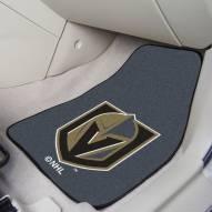 Vegas Golden Knights 2-Piece Carpet Car Mats