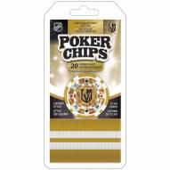 Vegas Golden Knights 20 Piece Poker Chips Set