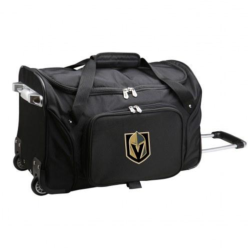 "Vegas Golden Knights 22"" Rolling Duffle Bag"