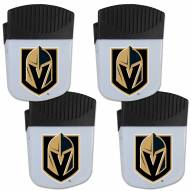 Vegas Golden Knights 4 Pack Chip Clip Magnet with Bottle Opener