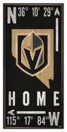 "Vegas Golden Knights 6"" x 12"" Coordinates Sign"