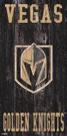 "Vegas Golden Knights 6"" x 12"" Heritage Logo Sign"