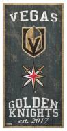 "Vegas Golden Knights 6"" x 12"" Heritage Sign"