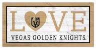 """Vegas Golden Knights 6"""" x 12"""" Love Sign"""
