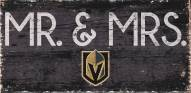 "Vegas Golden Knights 6"" x 12"" Mr. & Mrs. Sign"