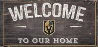 """Vegas Golden Knights 6"""" x 12"""" Welcome Sign"""