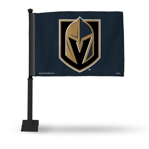 Vegas Golden Knights Car Flag with Black Pole