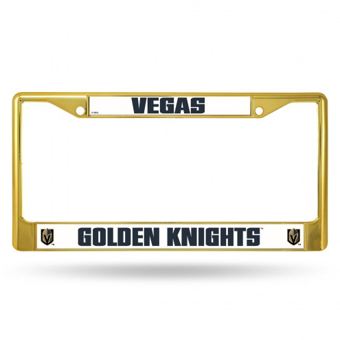 Vegas Golden Knights Colored Chrome License Plate Frame