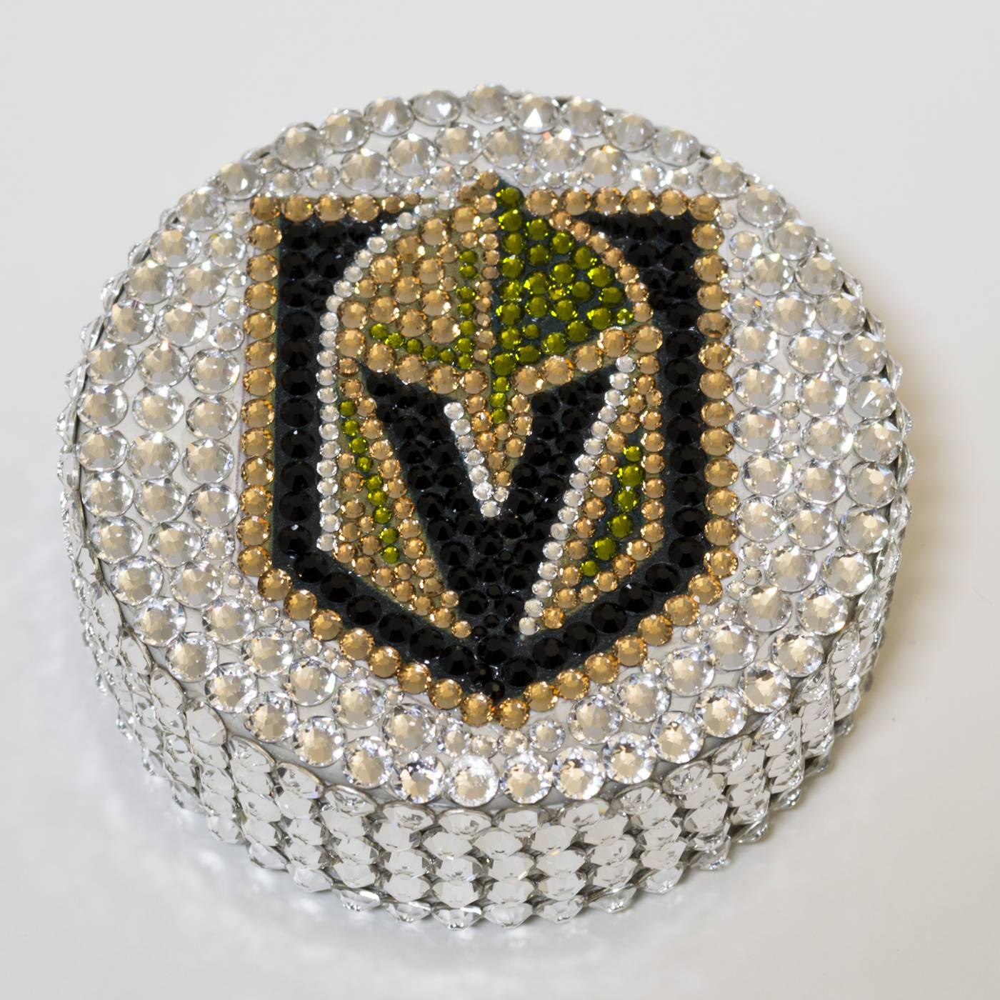 Vegas Golden Knights Swarovski Crystal Hockey Puck 1557b7c00