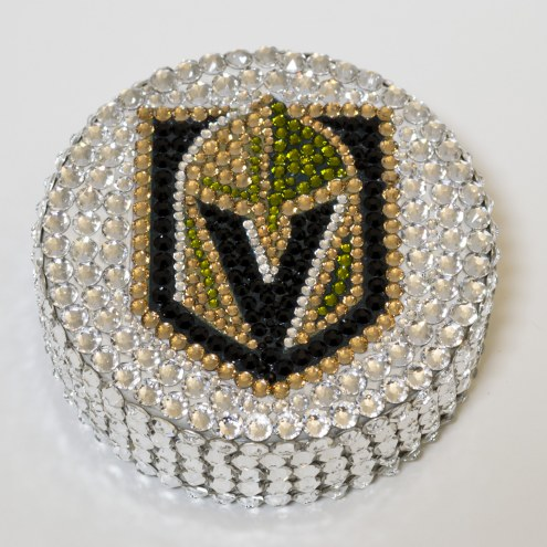 Vegas Golden Knights Swarovski Crystal Hockey Puck