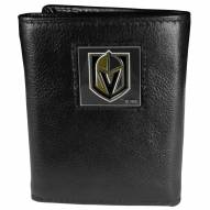 Vegas Golden Knights Deluxe Leather Tri-fold Wallet in Gift Box