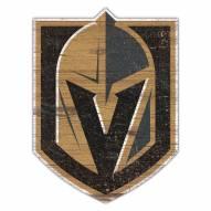Vegas Golden Knights Distressed Logo Cutout Sign