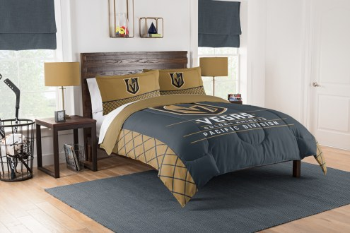 Vegas Golden Knights Draft Full/Queen Comforter Set
