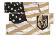 Vegas Golden Knights Flag 3 Plank Sign