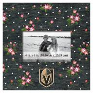"""Vegas Golden Knights Floral 10"""" x 10"""" Picture Frame"""