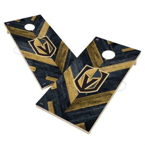 Vegas Golden Knights Herringbone Cornhole Game Set