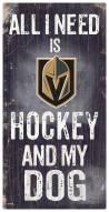 Vegas Golden Knights Hockey & My Dog Sign