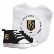 Vegas Golden Knights Infant Bib & Shoes Gift Set