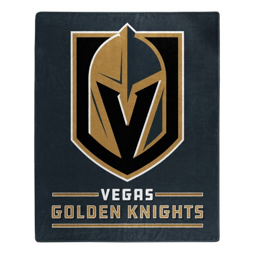 Vegas Golden Knights Interference Raschel Blanket