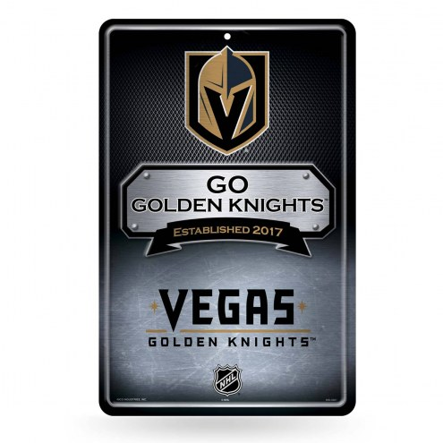 Vegas Golden Knights Large Embossed Metal Wall Sign