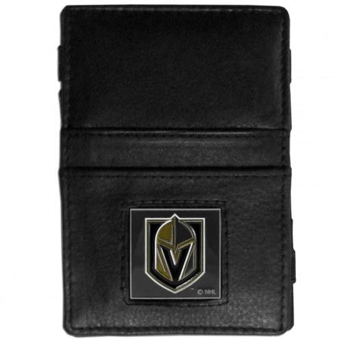 Vegas Golden Knights Leather Jacob's Ladder Wallet