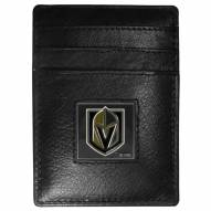 Vegas Golden Knights Leather Money Clip/Cardholder in Gift Box