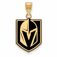 Vegas Golden Knights Sterling Silver Gold Plated Large Pendant