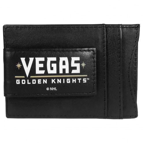 Vegas Golden Knights Logo Leather Cash and Cardholder