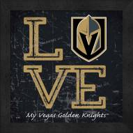 Vegas Golden Knights Love My Team Color Wall Decor