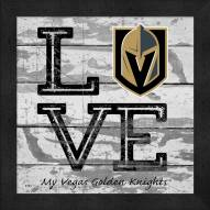 Vegas Golden Knights Love My Team Square Wall Decor