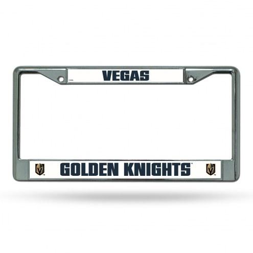 Vegas Golden Knights Chrome License Plate Frame