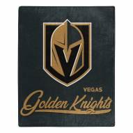 Vegas Golden Knights Signature Raschel Throw Blanket