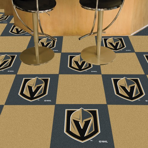 Vegas Golden Knights Team Carpet Tiles