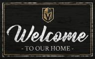 Vegas Golden Knights Team Color Welcome Sign