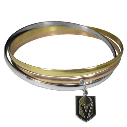 Vegas Golden Knights Tri-color Bangle Bracelet