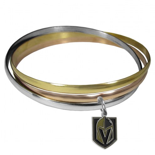 Vegas Golden Knights Tri-color Bangle Bracelet