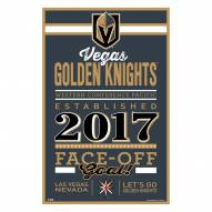 Vegas Golden Knights Established Wood Sign