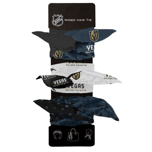 Vegas Golden Knights Wired Hair Tie