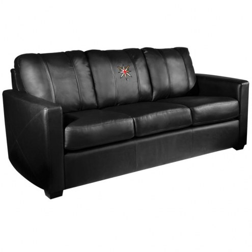 Vegas Golden Knights XZipit Silver Sofa with Secondary Logo