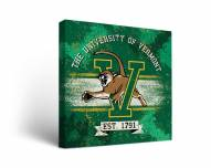 Vermont Catamounts Banner Canvas Wall Art