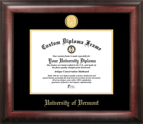 Vermont Catamounts Gold Embossed Diploma Frame