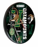 Vermont Catamounts Digitally Printed Wood Clock