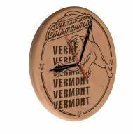 Vermont Catamounts Laser Engraved Wood Clock