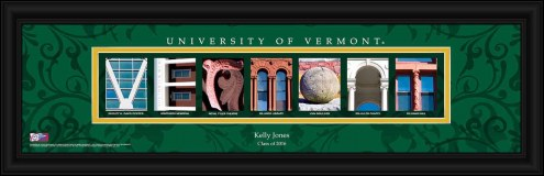 Vermont Catamounts Personalized Campus Letter Art