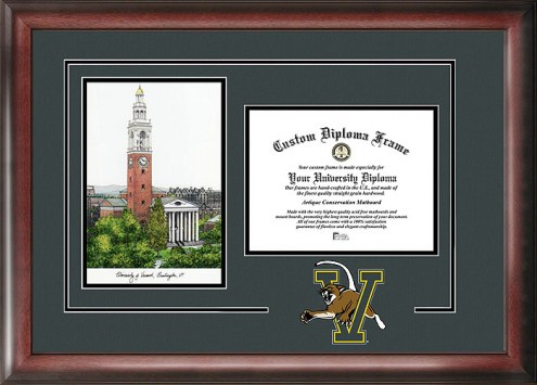 Vermont Catamounts Spirit Diploma Frame with Campus Image
