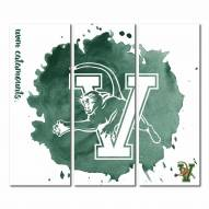 Vermont Catamounts Triptych Watercolor Canvas Wall Art