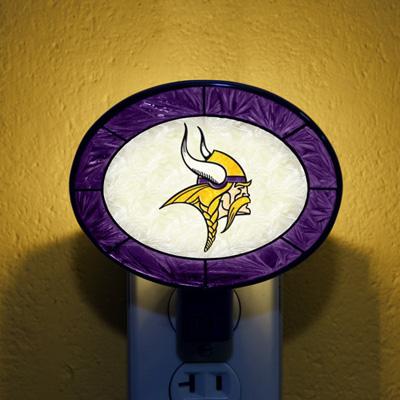 Minnesota Vikings NFL Stained Glass Night Light