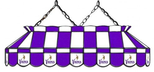 "Minnesota Vikings NFL Team 40"" Rectangular Stained Glass Shade"